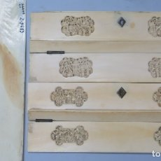 Antigüedades: CONJUNTO DE PIEZAS O PARTES DE MARFIL DE CAJA DE CANTON. CHINA. SIGLO XIX. Lote 172646978
