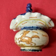 Antigüedades: ANTIGUA CESTA CERAMICA NIVEIRO TALAVERA. Lote 172652312