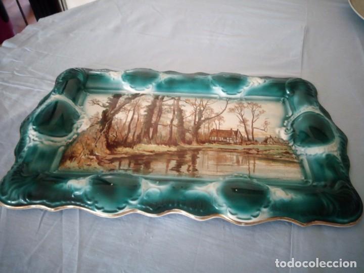 Antigüedades: espectacular bandeja de porcelana stoke on trent trade bros mark staffordshire 1891-1900. - Foto 3 - 172664194