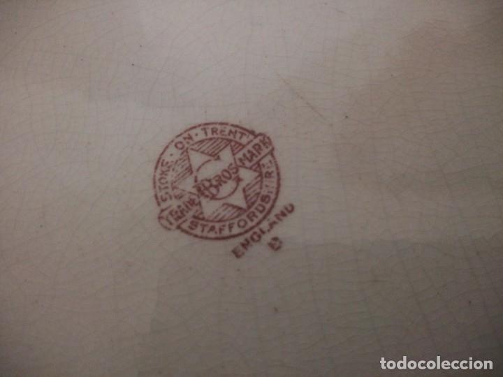 Antigüedades: espectacular bandeja de porcelana stoke on trent trade bros mark staffordshire 1891-1900. - Foto 8 - 172664194