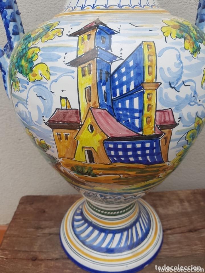 Antigüedades: Gran Jarron ánfora cerámica de Talavera asa de serpiente - Foto 2 - 172668085