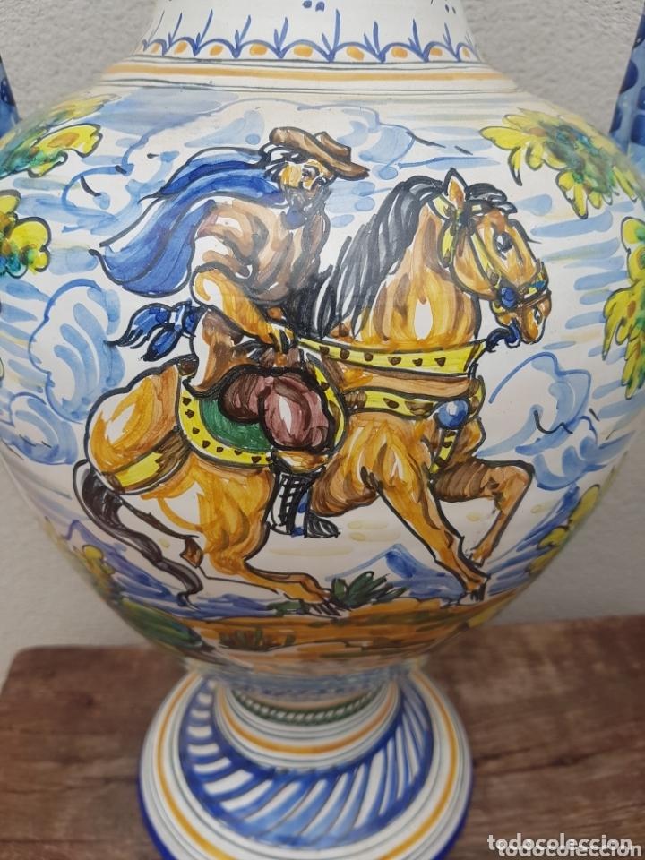 Antigüedades: Gran Jarron ánfora cerámica de Talavera asa de serpiente - Foto 4 - 172668085