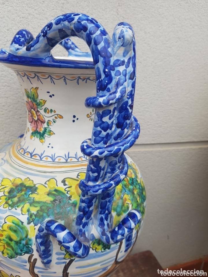 Antigüedades: Gran Jarron ánfora cerámica de Talavera asa de serpiente - Foto 6 - 172668085