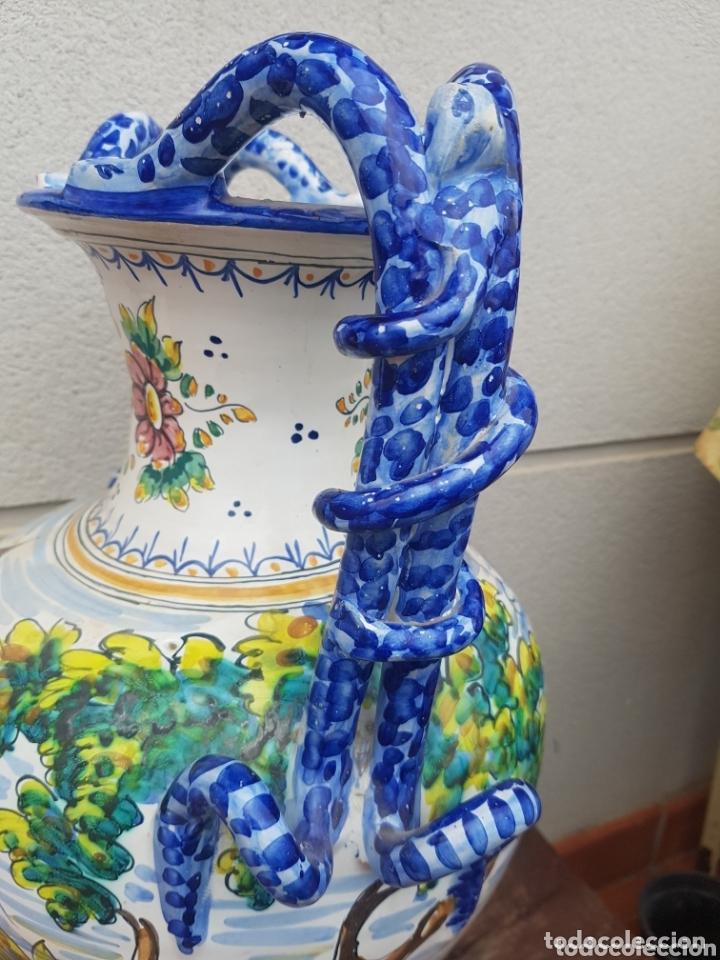 Antigüedades: Gran Jarron ánfora cerámica de Talavera asa de serpiente - Foto 8 - 172668085