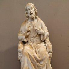 Antigüedades: SAGRADO CORAZÓN ESTUCO HUECO. Lote 172668719