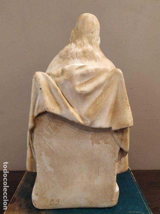 Antigüedades: SAGRADO CORAZÓN ESTUCO HUECO - Foto 3 - 172668719