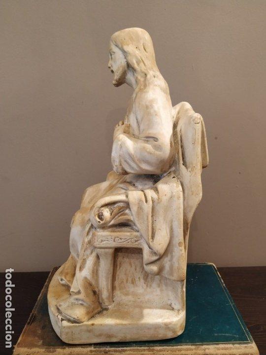 Antigüedades: SAGRADO CORAZÓN ESTUCO HUECO - Foto 7 - 172668719