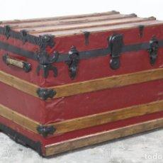 Antigüedades: BAÚL DE VIAJE DE PRINCIPIOS FINALES DEL S. XIX - PRINCIPIOS DEL S. XX. Lote 172668984