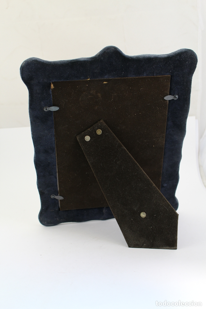 Antigüedades: portafotos antiguo en metal plateado - Foto 5 - 172669319