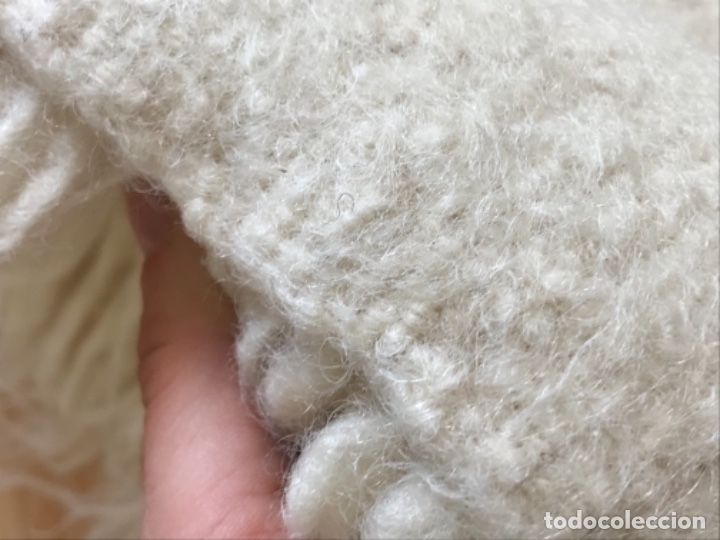 Antigüedades: gran alfombra lana pura rizada solida tejida detras en telar preciosa comoda impecable es antigua - Foto 15 - 172683619
