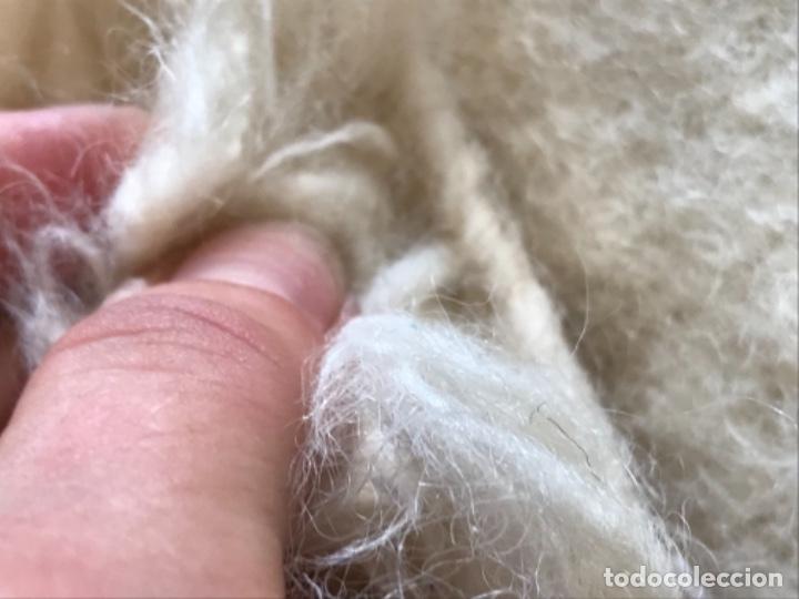 Antigüedades: gran alfombra lana pura rizada solida tejida detras en telar preciosa comoda impecable es antigua - Foto 16 - 172683619