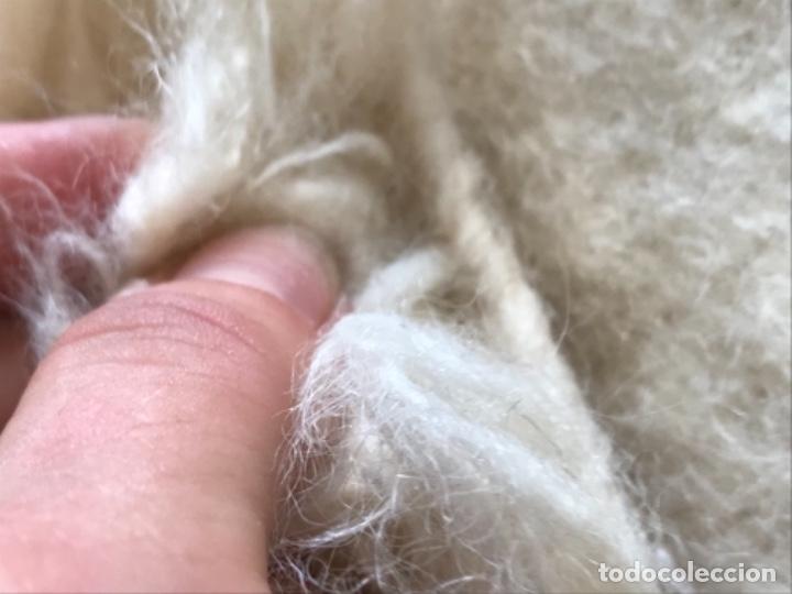 Antigüedades: gran alfombra lana pura rizada solida tejida detras en telar preciosa comoda impecable es antigua - Foto 17 - 172683619