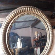 Antigüedades: MARCO OVAL CON ESPEJO. Lote 172686164