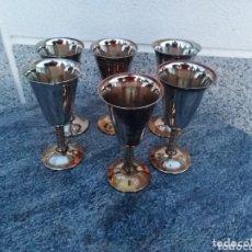 Antigüedades: JUEGO COPAS DE ALPACA. Lote 172699173