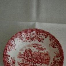 Antigüedades: PLATITO INGLES MARCA «JOHNSON BROS» ESCENAS DE CAZA, DIAMETRO 13 CM.. Lote 172706415