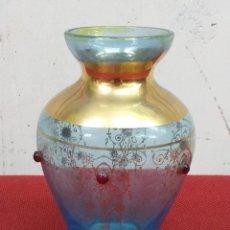 Antigüedades: PEQUEÑO JARRÓN DE CRISTAL PRIMER CUARTO SIGLO XX. Lote 172708733