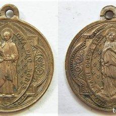 Oggetti Antichi: MEDALLA RELIGIOSA INMACULADA CONCEPCION Y SAN ALOYSI LUIS GONZAGA. Lote 172709983