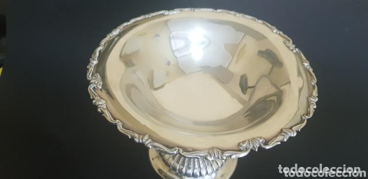 Antigüedades: ANTIGUA COPA ENSALADERA FRUTERO CENTRO MESA EN PLATA DE LEY SIGLO XIX XX - Foto 5 - 172710053