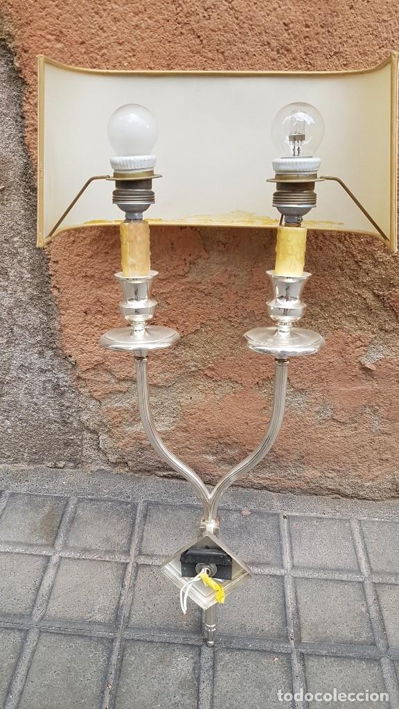 Antigüedades: 3 APLIQUES AÑOS 70 ESTILO VALENTI - Foto 20 - 172710194
