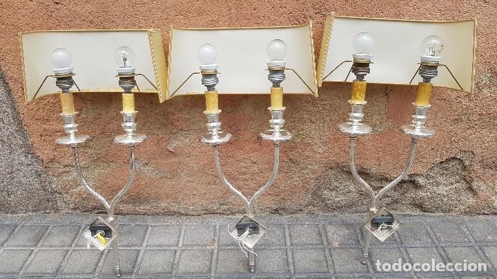 Antigüedades: 3 APLIQUES AÑOS 70 ESTILO VALENTI - Foto 21 - 172710194