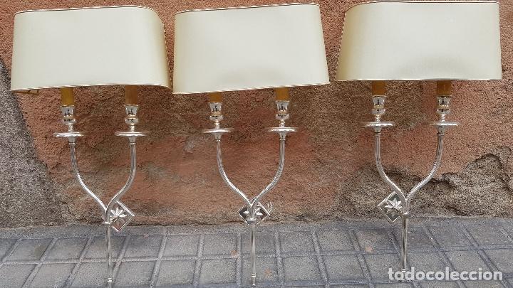 3 APLIQUES AÑOS 70 ESTILO VALENTI (Antigüedades - Iluminación - Apliques Antiguos)