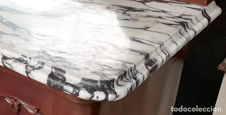 Antigüedades: Aparador antiguo estilo chippendale. Bufet, trinchero, mueble de salón espejo estilo inglés vintage. - Foto 8 - 172723414