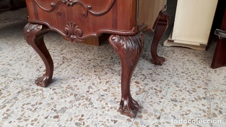 Antigüedades: Aparador antiguo estilo chippendale. Bufet, trinchero, mueble de salón espejo estilo inglés vintage. - Foto 11 - 172723414