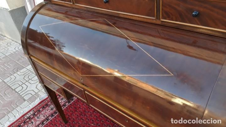 Antigüedades: Escritorio antiguo cilindro estilo Luis XVI. Mueble secreter canterano buró bureau antiguo imperio - Foto 14 - 172723879