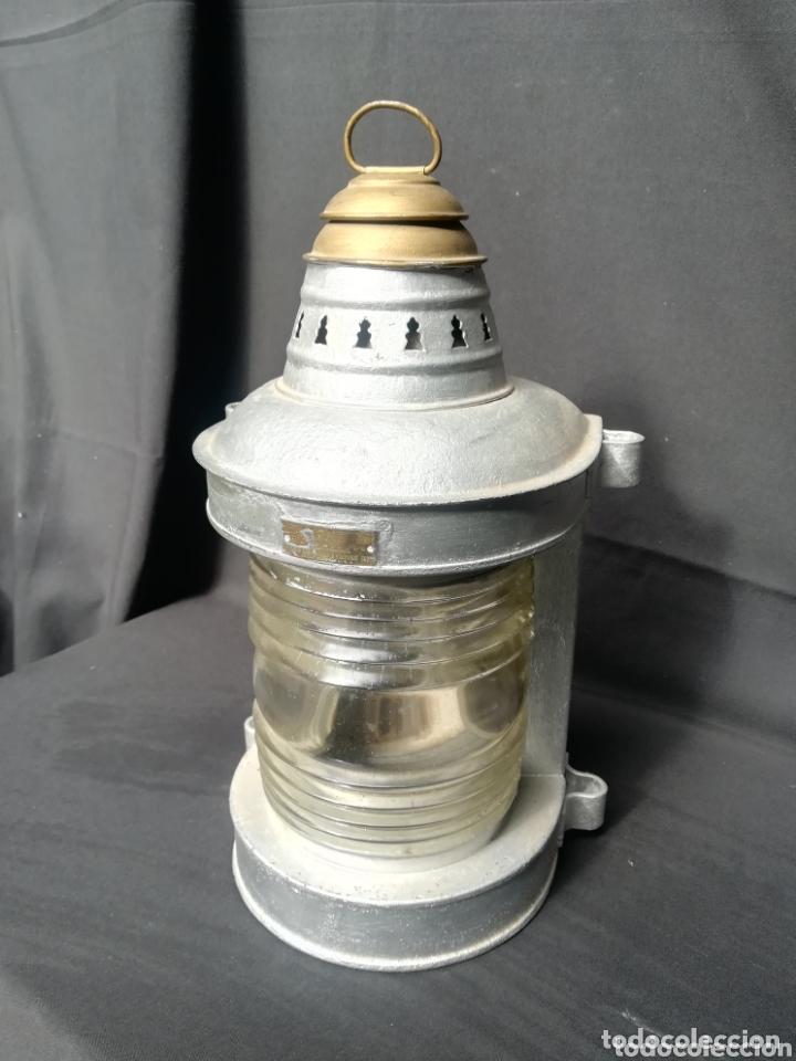 LÁMPARA/ FAROL DE BARCO U.S.A (Antigüedades - Iluminación - Faroles Antiguos)