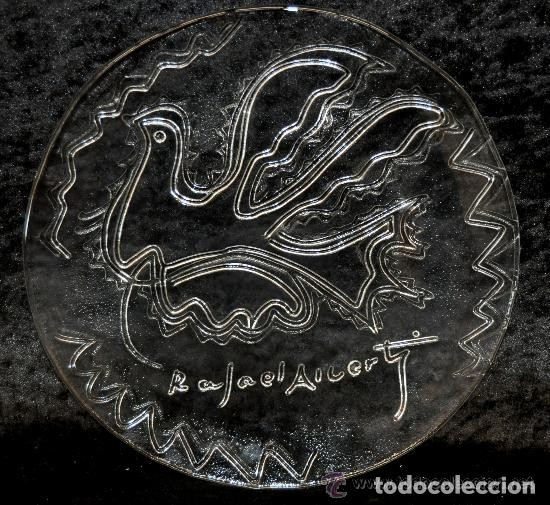 PLATO CRISTAL RAFAEL ALBERTI PALOMA DE LA PAZ CALIDAD COLECCION (Antigüedades - Cristal y Vidrio - Otros)