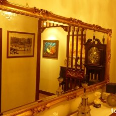 Antigüedades: ESPEJO CON MARCO DORADO. Lote 172742615