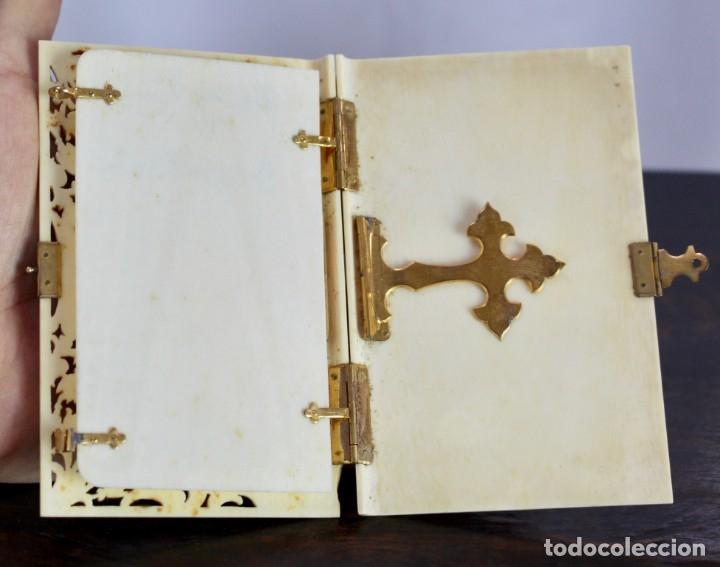 Antigüedades: ELEGANTE CARNET DE BAILE EN MARFIL Y ORO - S XIX, 11 X 7 cm - Foto 3 - 172747175