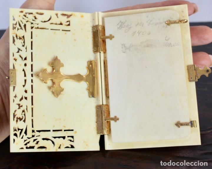 Antigüedades: ELEGANTE CARNET DE BAILE EN MARFIL Y ORO - S XIX, 11 X 7 cm - Foto 4 - 172747175