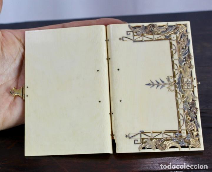 Antigüedades: ELEGANTE CARNET DE BAILE EN MARFIL Y ORO - S XIX, 11 X 7 cm - Foto 7 - 172747175