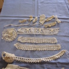 Antigüedades: LOTE DE PUNTILLAS DE REMATE, DIVERSAS PIEZAS, TROZOS. Lote 172763317