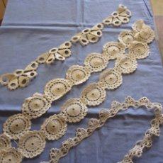 Antigüedades: LOTE DE PUNTILLAS DE REMATE. Lote 172763552