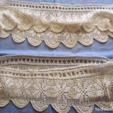 Antigüedades: LOTE DE PUNTILLAS DE REMATE FORMA REDONDA. Lote 172763760