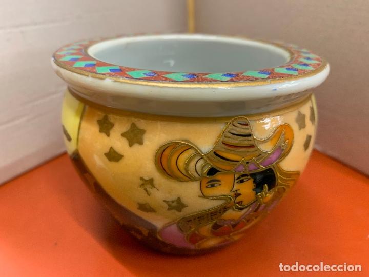 PRECIOSO MACETERO DE PORCELANA O CERAMICA CHINA. MIDE 10,5CMS DIAMETRO Y 8CM ALTURA (Antigüedades - Porcelanas y Cerámicas - China)