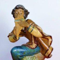 Antiquités: MÚSICO DE LOS ANDES. PORCELANA ESMALTADA. LLADRÓ. 2174 . ESPAÑA. SIGLO XX. Lote 172769825