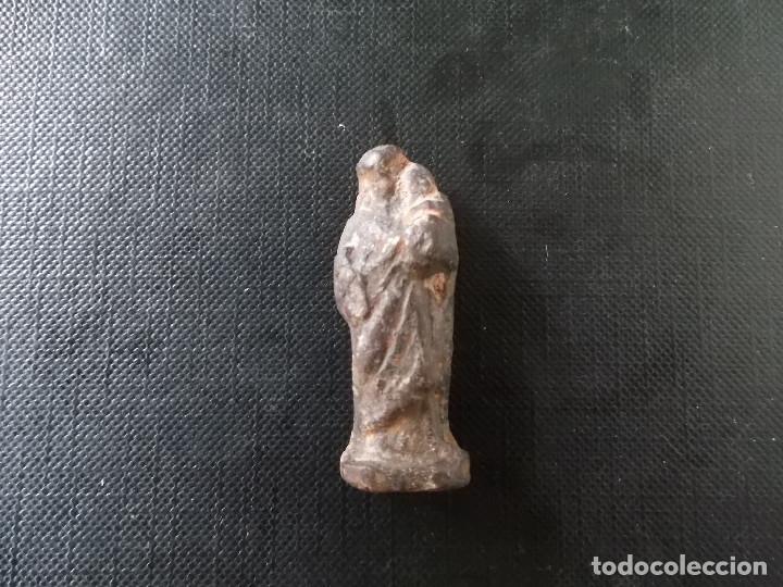 FIGURA DE SANT JOSE PLOMO SIGLO XVI EN MUY BUEN ESTADO VER FOTOS (Antigüedades - Religiosas - Relicarios y Custodias)