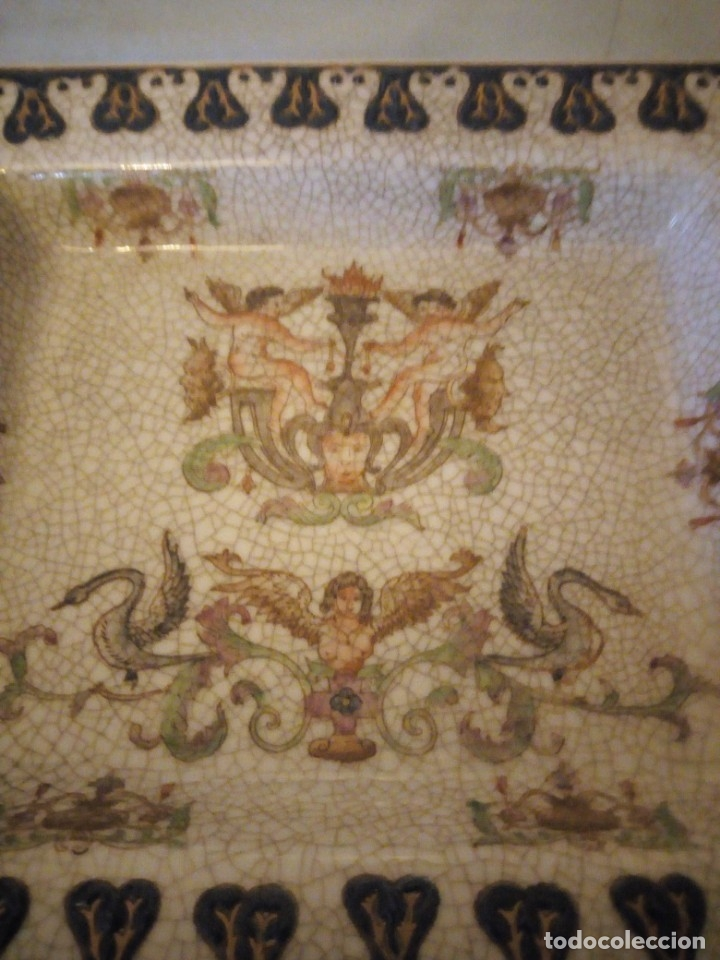 Antigüedades: Bandeja de porcelana Wong Lee WL 1895 . - Foto 3 - 172779435