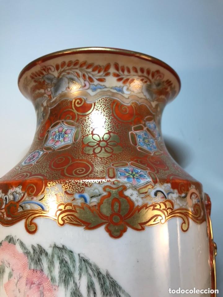 Antigüedades: 2 Jarrones Porcelana- Japón- Kutani- 33 cm - Foto 11 - 172779528