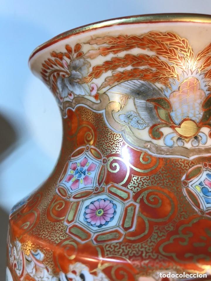 Antigüedades: 2 Jarrones Porcelana- Japón- Kutani- 33 cm - Foto 19 - 172779528