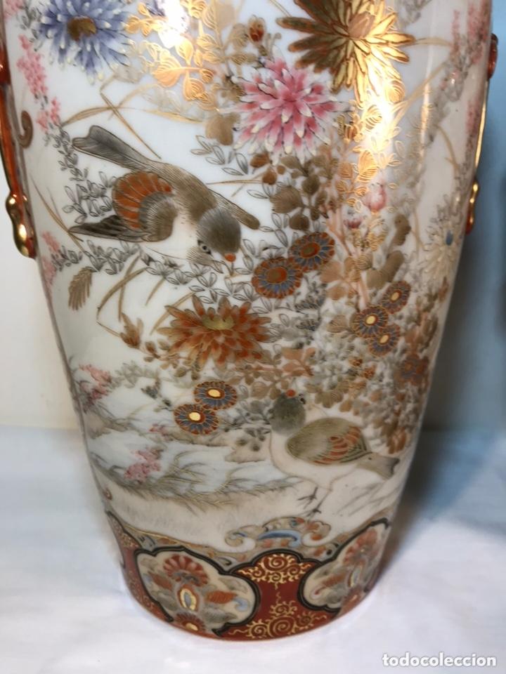 Antigüedades: 2 Jarrones Porcelana- Japón- Kutani- 33 cm - Foto 22 - 172779528