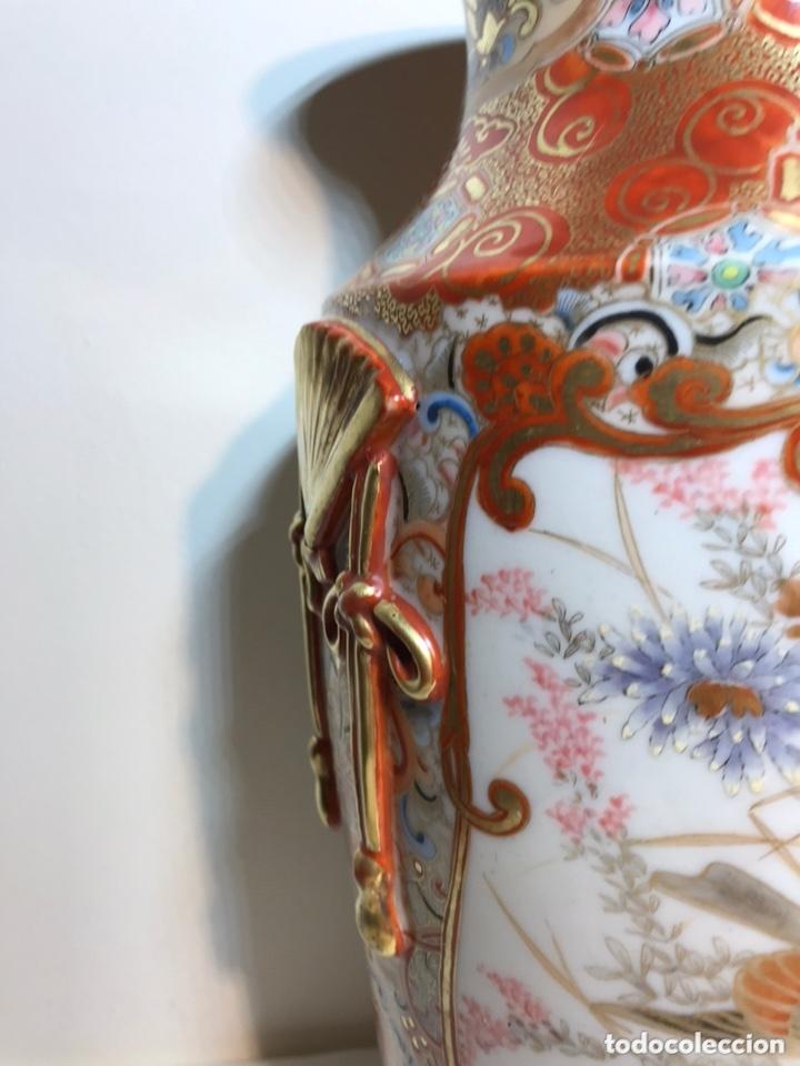 Antigüedades: 2 Jarrones Porcelana- Japón- Kutani- 33 cm - Foto 25 - 172779528