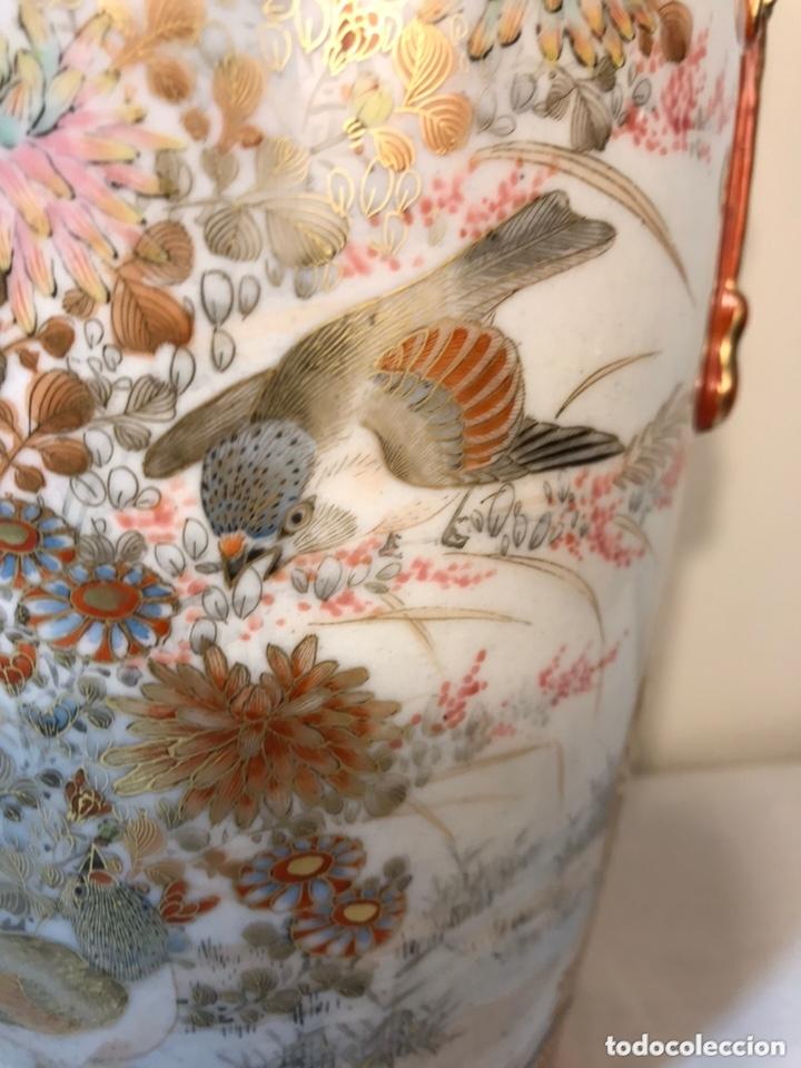 Antigüedades: 2 Jarrones Porcelana- Japón- Kutani- 33 cm - Foto 27 - 172779528