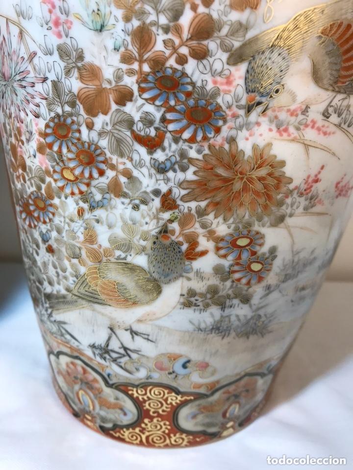 Antigüedades: 2 Jarrones Porcelana- Japón- Kutani- 33 cm - Foto 29 - 172779528
