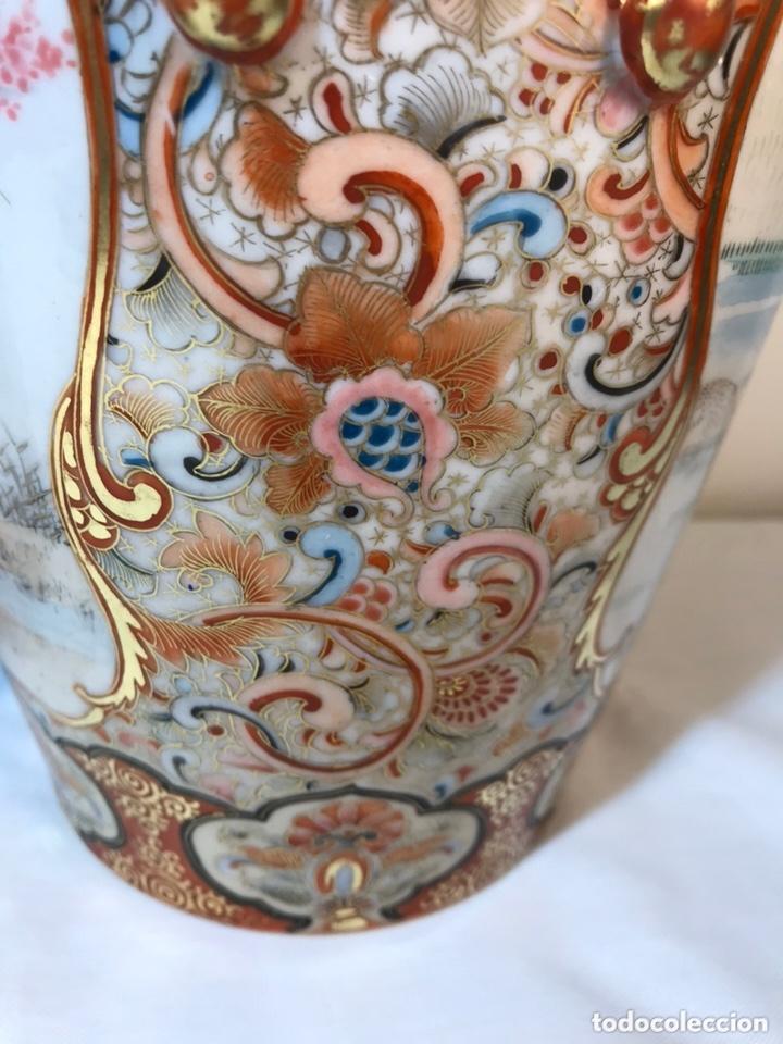 Antigüedades: 2 Jarrones Porcelana- Japón- Kutani- 33 cm - Foto 37 - 172779528