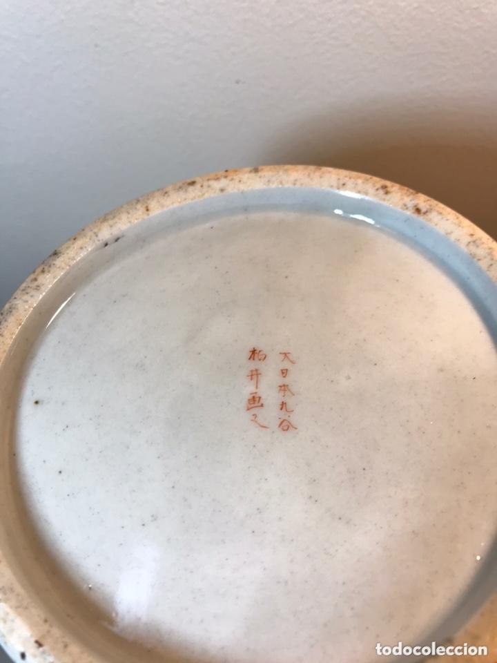 Antigüedades: 2 Jarrones Porcelana- Japón- Kutani- 33 cm - Foto 38 - 172779528