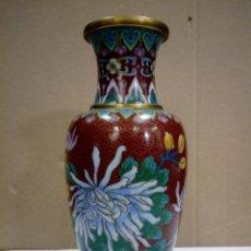 Antigüedades: JARRÓN CHINO ESMALTADO CLOISONNE . Lote 172783569